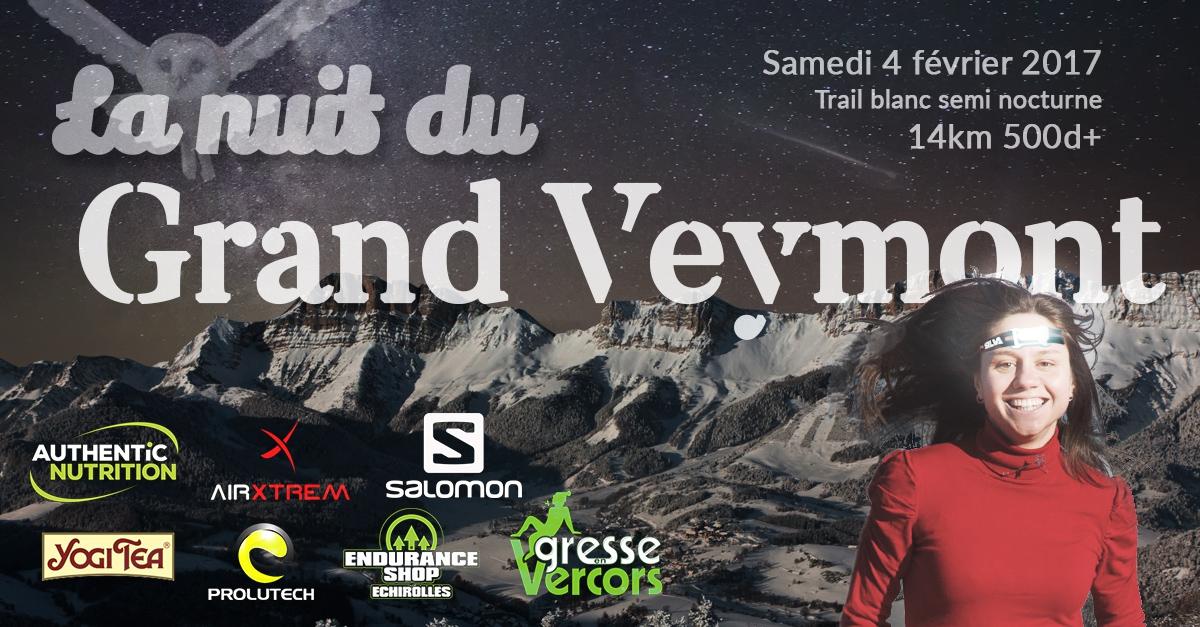 Nuit du Grand Veymont 2017 - 14km